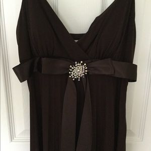 NWT Chocolate Brown Full Length Gown